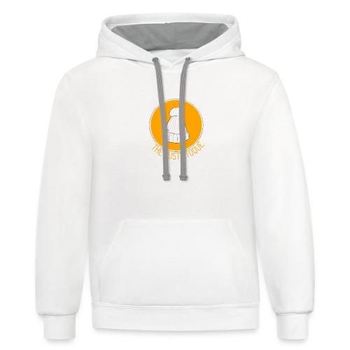 The Rusty Toque Orange Logo 2 - Contrast Hoodie