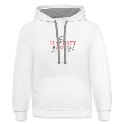 Kids Night Out Redone - Unisex Contrast Hoodie