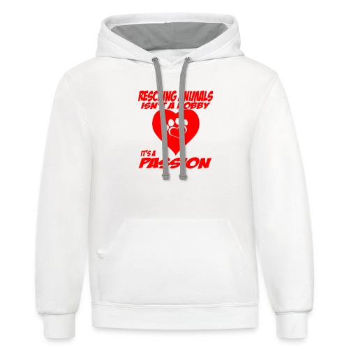 01 rescuing animals copy - Contrast Hoodie