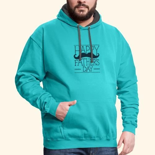 Fathers Day Mustache Design - Contrast Hoodie