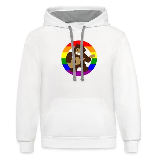 Rainbow Logo - Unisex Contrast Hoodie