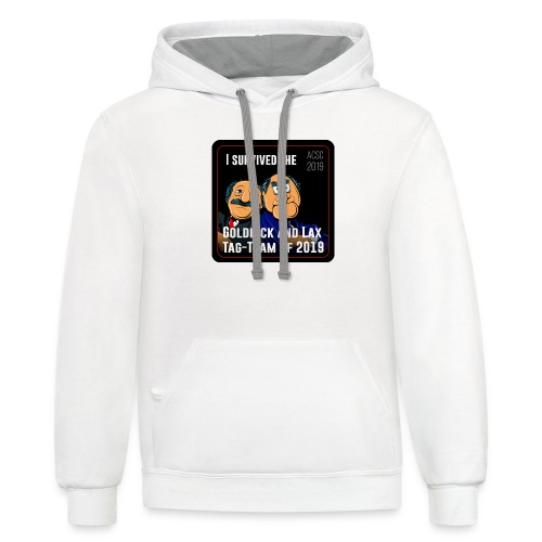 Goldrick and Lax Tag Team - Unisex Contrast Hoodie