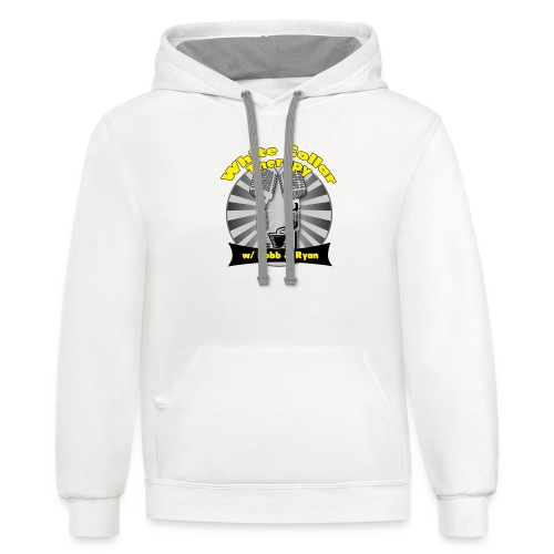The White Collar Therapy Show - Legacy Logo - Contrast Hoodie