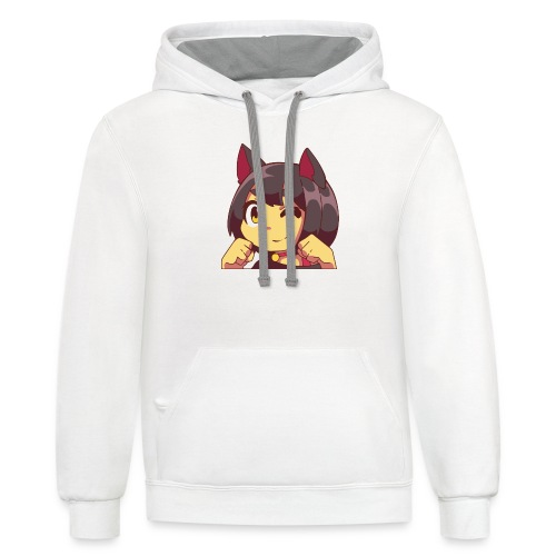 Happy Kitty - Contrast Hoodie