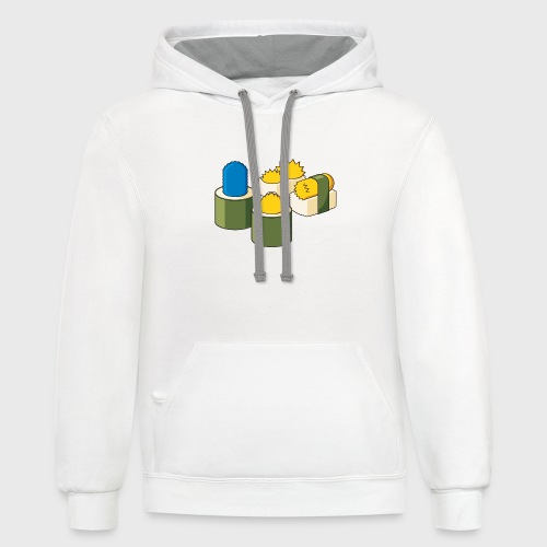 The Simpsons Sushi - Contrast Hoodie