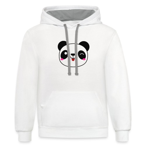 Panda T-Shirts and Hoodies for Men and Women - Unisex Contrast Hoodie