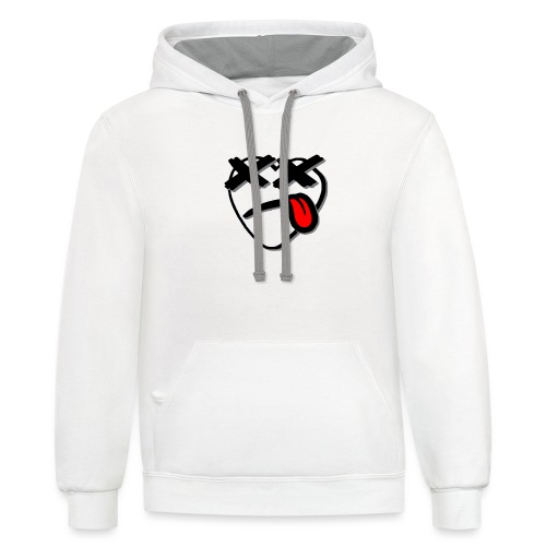 OG Hearty White - Unisex Contrast Hoodie