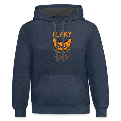 Flaky Croissant - Unisex Contrast Hoodie
