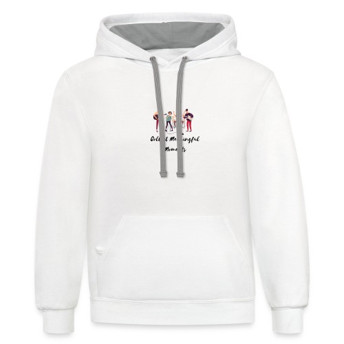 Collect Meaningful Moments - Unisex Contrast Hoodie