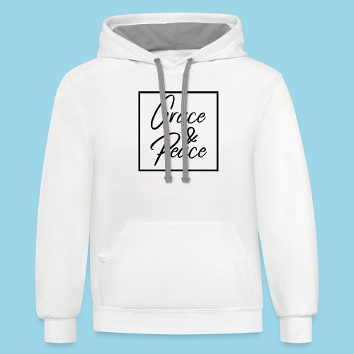 Grace and Peace - Unisex Contrast Hoodie