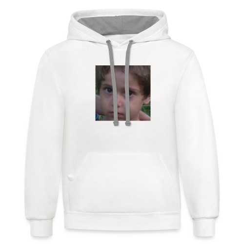 VERY RARE CONCERNED BABI NILA AND PLAYING GUITAR - Unisex Contrast Hoodie