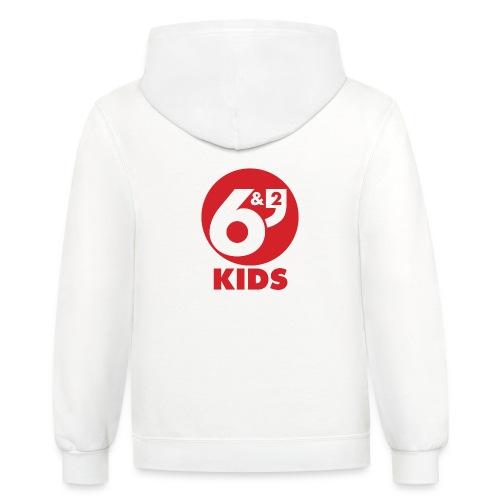 6et2 logo v2 kids 02 - Unisex Contrast Hoodie