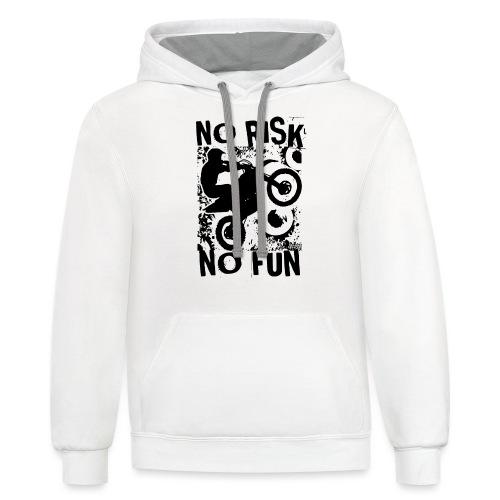 Motocross No Risk No Fun - Contrast Hoodie