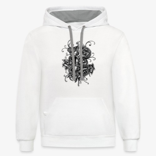Dagger And Snake - Unisex Contrast Hoodie