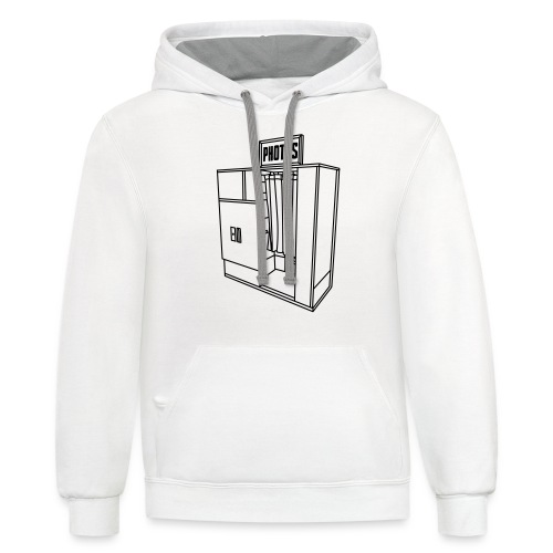 Photobooth.net T-Shirt with Logo and Name - Unisex Contrast Hoodie