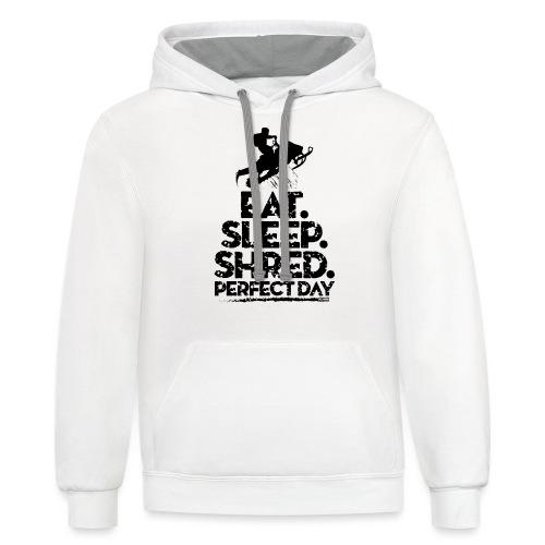 Snowmobile Eat Sleep - Contrast Hoodie