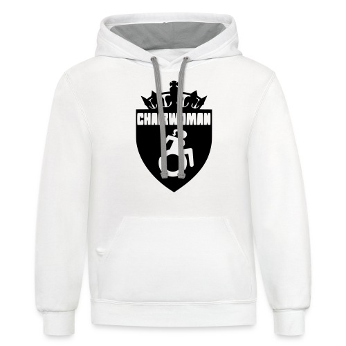 A woman in a wheelchair is Chairwoman - Unisex Contrast Hoodie