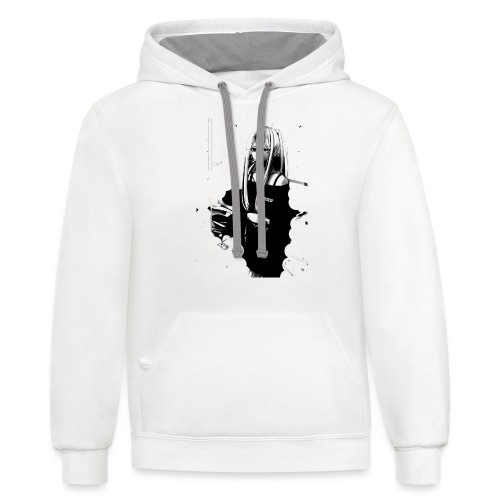 Stay Safe - Unisex Contrast Hoodie