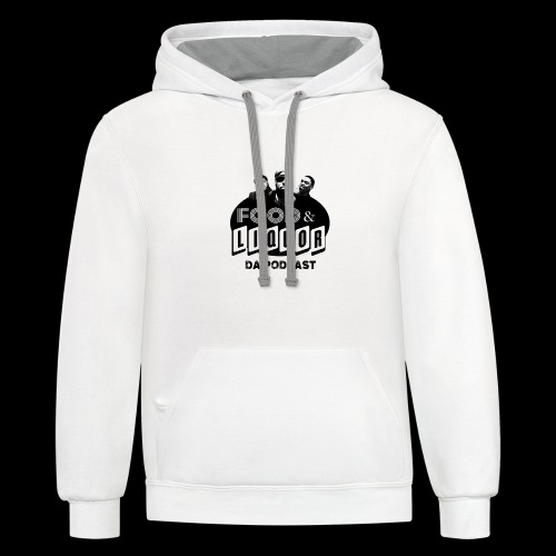 Food & Liquor Da Podcast Logo - Contrast Hoodie