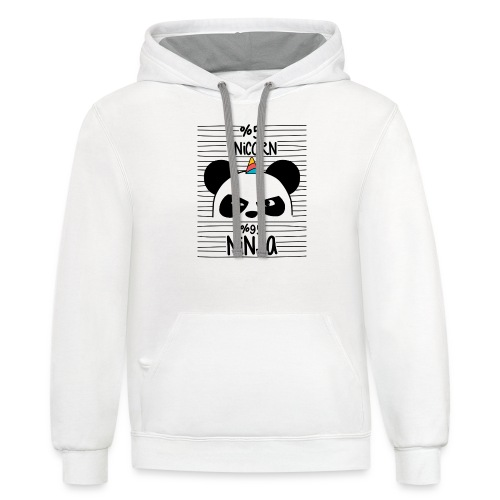 Unircorn Panda Ninja - Contrast Hoodie
