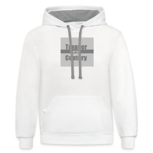 Trapper of the century original design syranical - Contrast Hoodie
