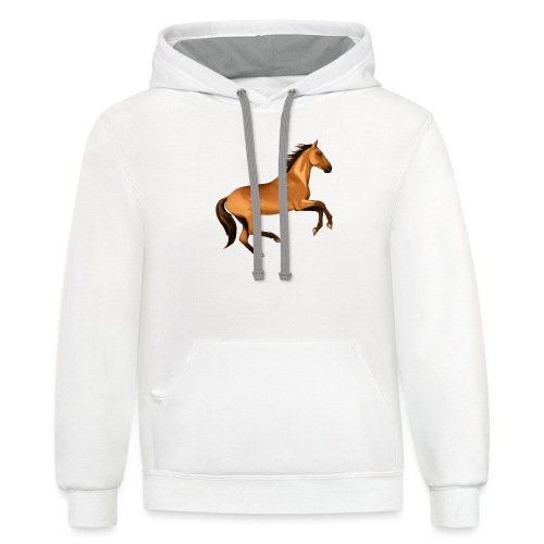 horse riding - Unisex Contrast Hoodie