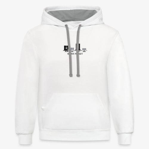 Never forget - Unisex Contrast Hoodie