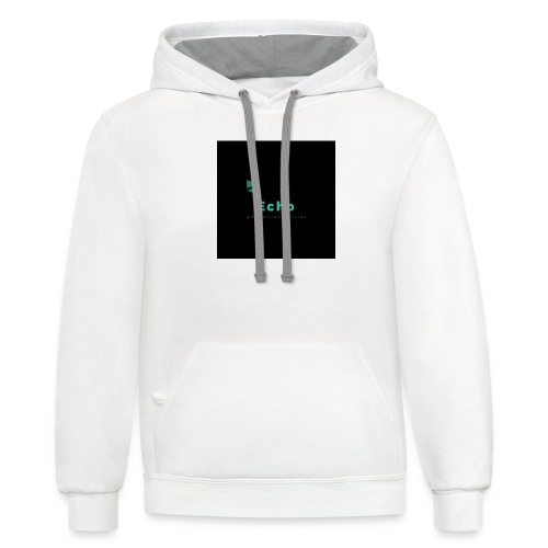 Echo Clan Offical Logo Merch - Contrast Hoodie