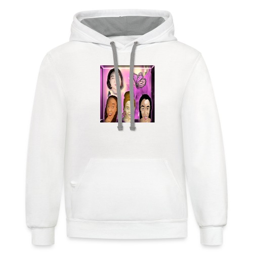 (family_first_revised) - Contrast Hoodie