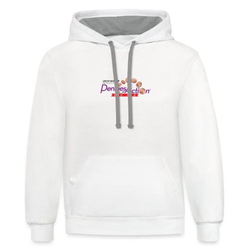 Pennies In Action Logo - Unisex Contrast Hoodie