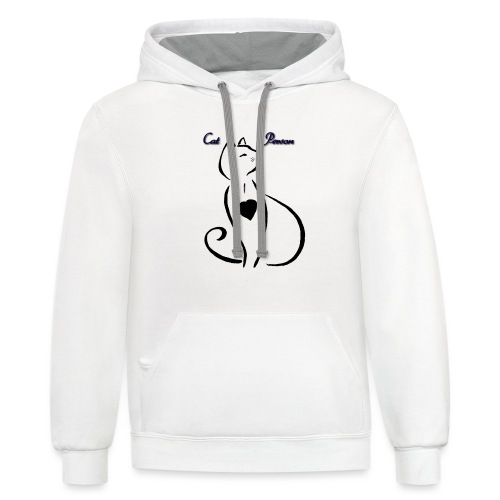 Cat Person - Contrast Hoodie