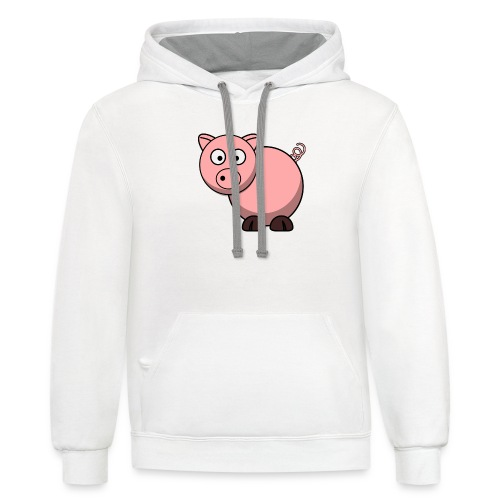 Funny Pig T-Shirt - Contrast Hoodie