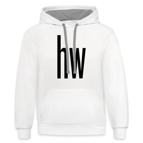 hw logo (Organic) - Unisex Contrast Hoodie