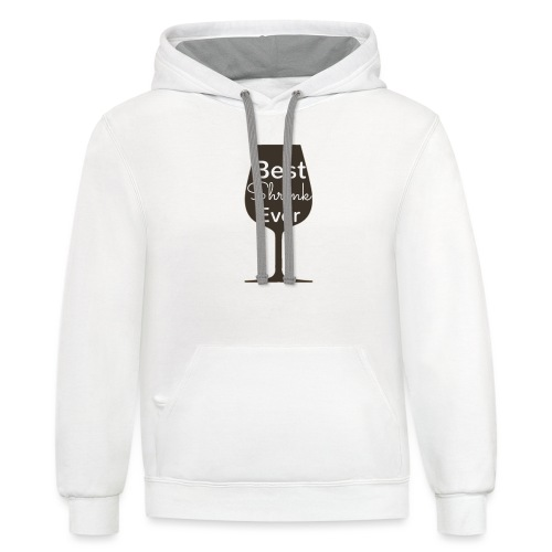 Alcohol Shrink Is The Best Shrink - Contrast Hoodie