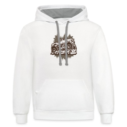 Monster Truck Grungy - Contrast Hoodie