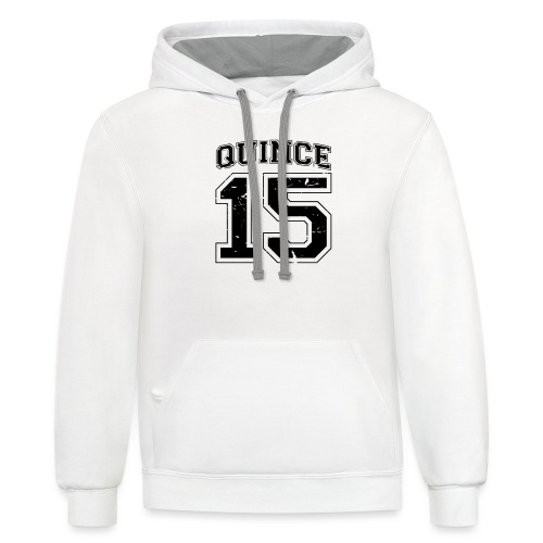 Quince 15 distressed - Unisex Contrast Hoodie