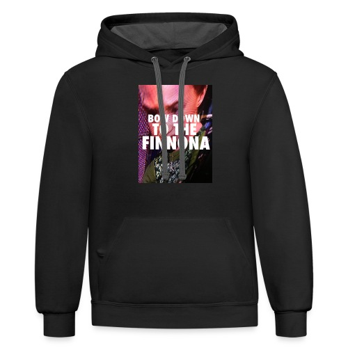 Bow Down To The Finnona - Contrast Hoodie