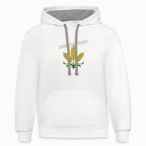 saskhoodz wheat - Contrast Hoodie