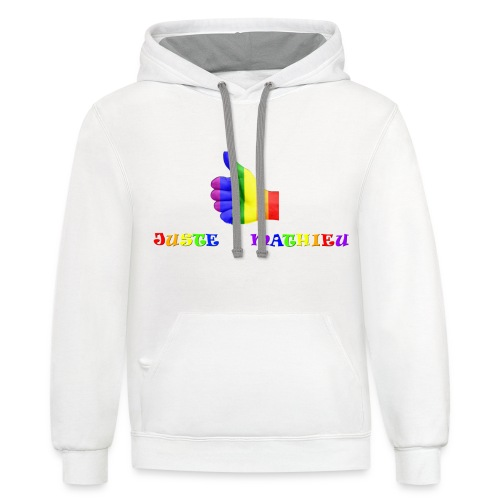 Logo LGBT + Name of the company - Unisex Contrast Hoodie