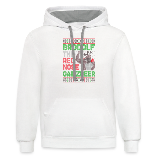Brodolf The Red Nose Gainzdeer - Contrast Hoodie