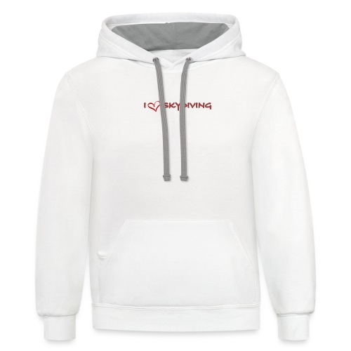 I love skydiving T-shirt/BookSkydive - Contrast Hoodie
