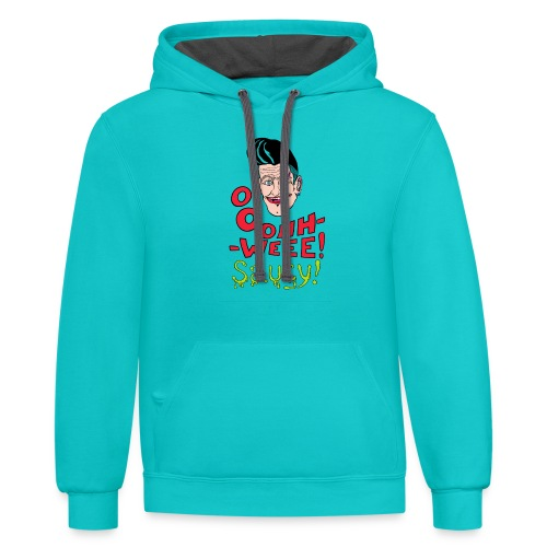 Jubilant classic hipster - Contrast Hoodie