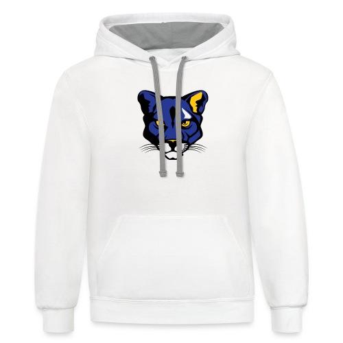 Prestwood Panther Head - Unisex Contrast Hoodie