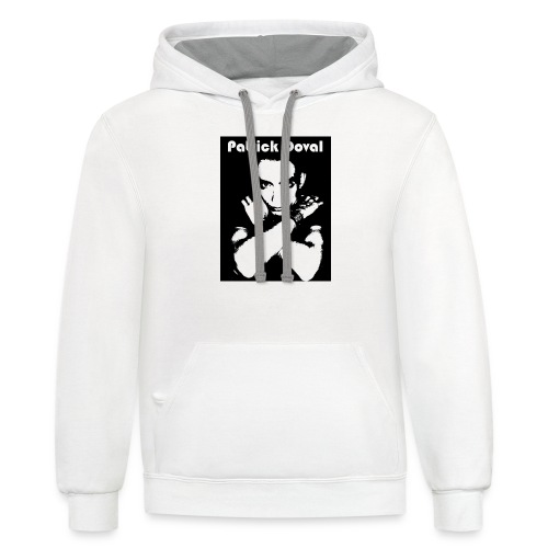 Patrick Doval Logo - Contrast Hoodie