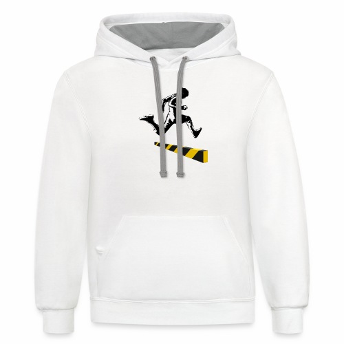 Leaping The Bounds of Caution - Contrast Hoodie