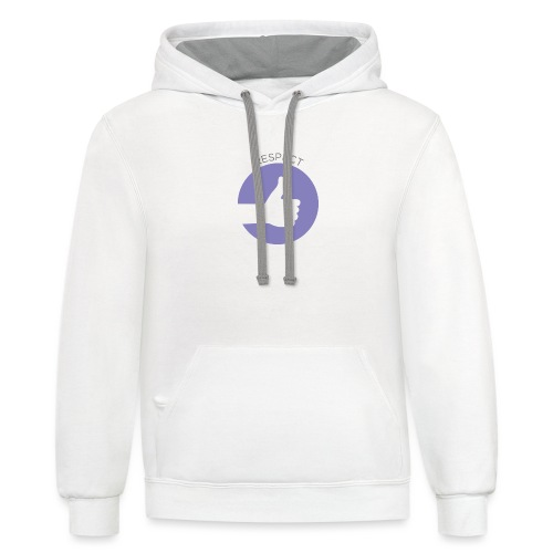 IMAGINOR VALUES ICONS WITH TEXT RESPECT - Contrast Hoodie
