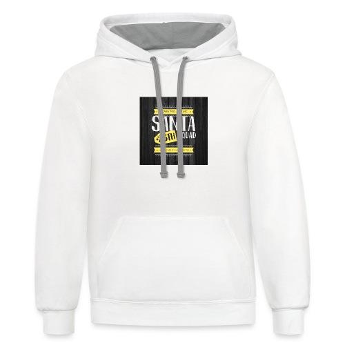 SANTA SQUAD - Unisex Contrast Hoodie