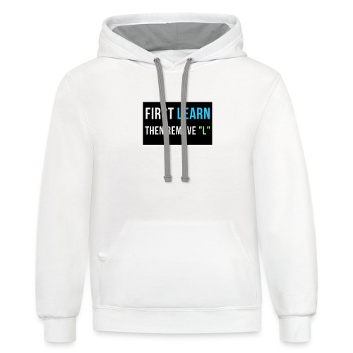 Only Good Vibes - Contrast Hoodie