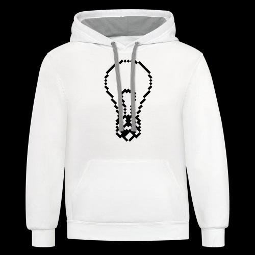 lightbulb by bmx3r - Contrast Hoodie