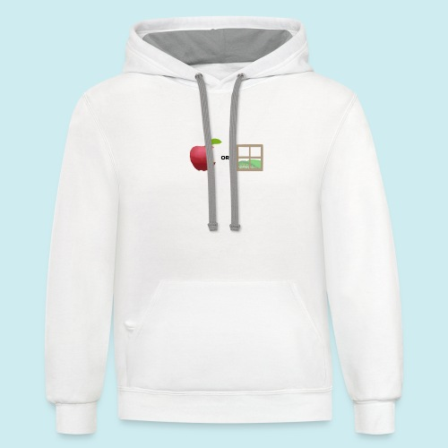 Apple or windows? - Contrast Hoodie
